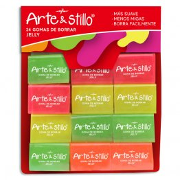Goma de borrar jelly Arte & Stillo® x24